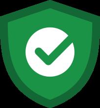 guaranteed safe pest treatment green icon