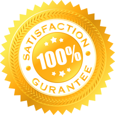 satisfaction guaranteed gold icon